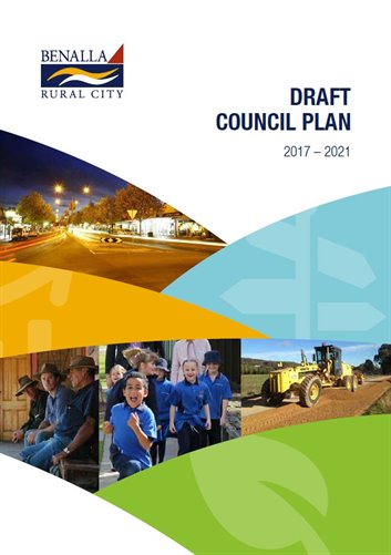 Front Cover of the Draft Council Plan